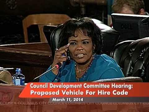 Columbus City Council Development Committee Transportation Hearing 3-11-2014