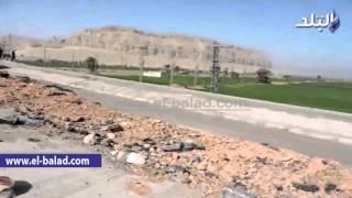 بالفيديو والصور.. بدء العمل في إصلاح كوبري جامعة سوهاج المنهار.. و'الأموال العامة' تتحفظ على مستندات المشروع