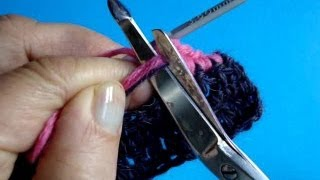 Вязание крючком - Урок 206 - Как спрятать конец нити