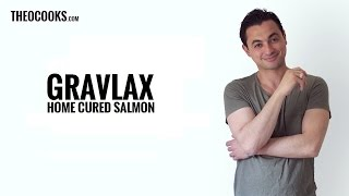 How to make Gravlax (home cured salmon) by Theo Michaels (gravad lax or lox!)