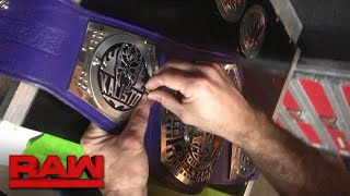Kalisto gets his WWE Cruiserweight Championship customized: Exclusive, Oct. 16, 2017