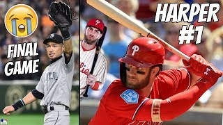 Ichiro RETIRES + Bryce Harper First PHILLIES Home Run (MLB)