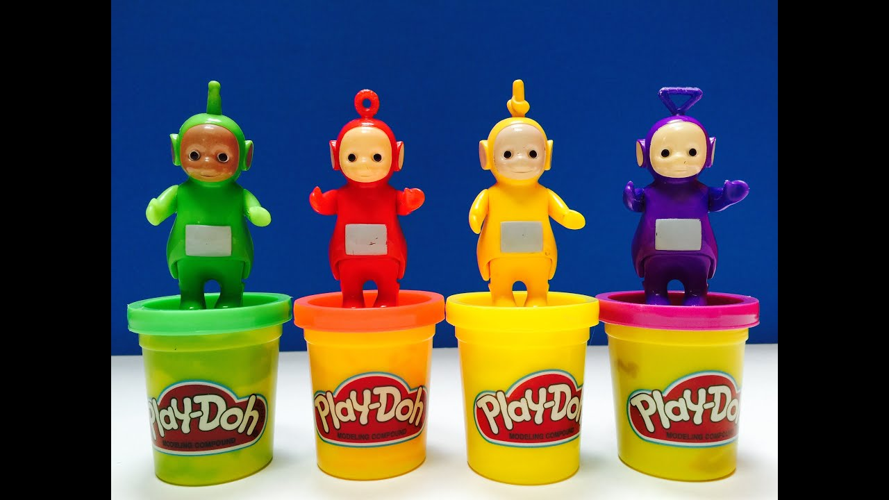 teletubbies play doh halloween costumes game youtube