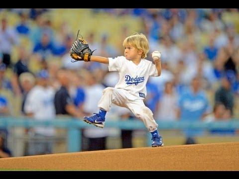 Preschooler throws first pitch at MLB game - Baseball Kid Christian Haupt  www.cathy-byrd.com