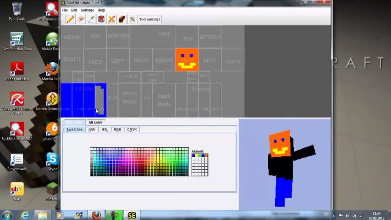 Minecraft Eigenen Skin Erstellen Und Einfügen YouTube - Skins fur minecraft machen
