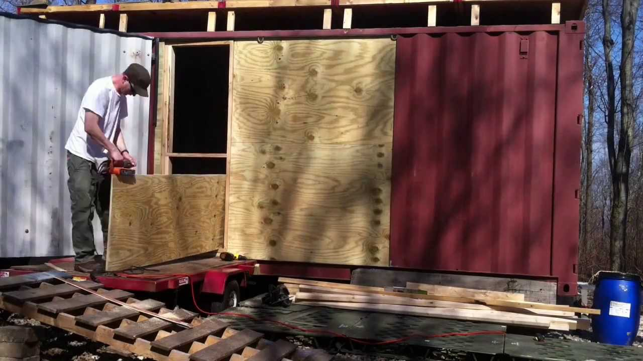 Shipping Container Door Installation Time Lapse Youtube
