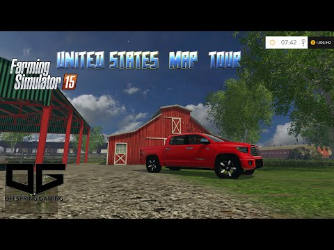 Farming Simulator 2015 - Tour of the United States Map!