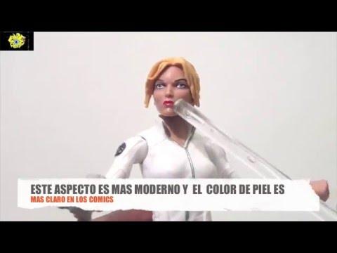 SHARON CARTER (CABEZA PROTOTIPO DE ROGUE) MARVEL LEGENDS RED SKULL 2016 REVIEW EN ESPAÑOL  B.M