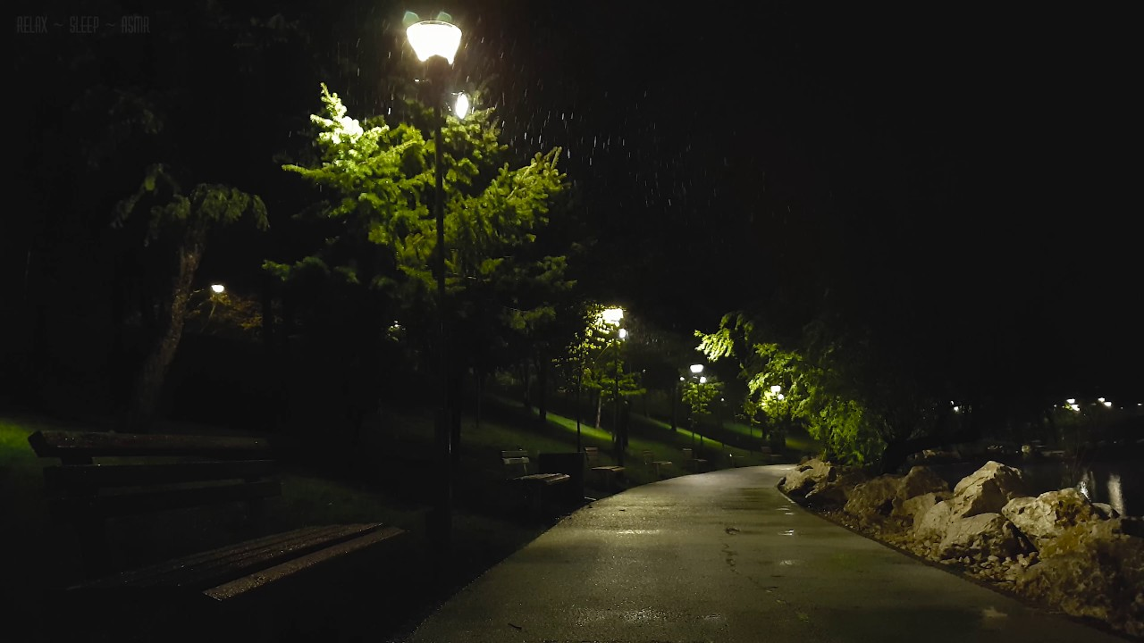Gentle Sounds of Nature  Sleet Falling in May at Night