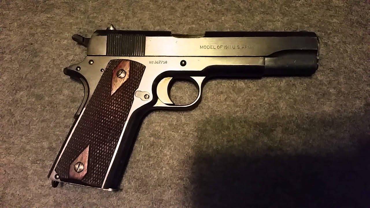 Colt M1911 WW1 Mfg. 1918 - YouTube M1911 Pistol Ww1