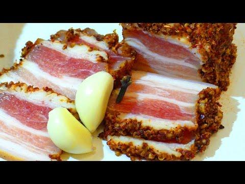 Маринованное сало. (Подчеревок). Marinated bacon.