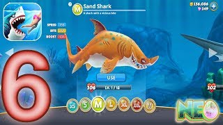 Hungry Shark World: Gameplay Walkthrough Part 6 - Sand Shark (iOS, Android)