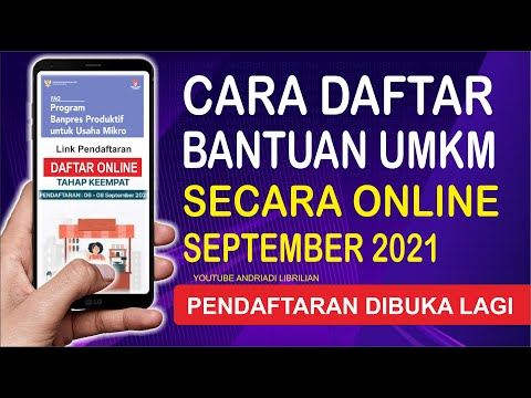Download CARA DAFTAR UMKM 2021 ONLINE BULAN SEPTEMBER TAHAP 4