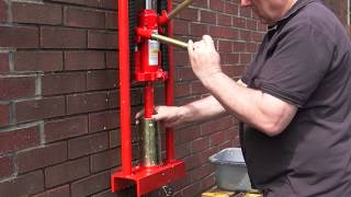 Repeat youtube video BRIQUETTE MAKER PAPER LOG BRICK JACK OPERATED