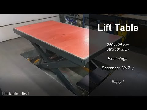 DIY Lift table 250x125 - final stage