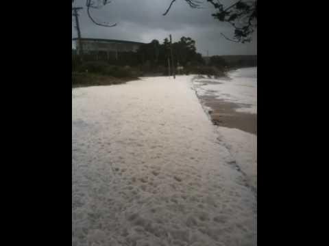 Storm hits Bellerive Beach, Hobart, Tasmania