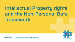 Intellectual Property Rights under Non-Personal Data