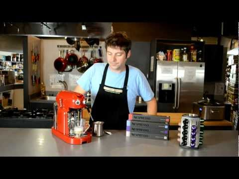 Nespresso Maestria - Froth and Steam Wand Demonstration