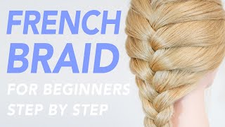 How To French Brąid Step By Step For Beginners - 1 Of 2 Ways To Add Hair To The Braid (PART 1) [CC]