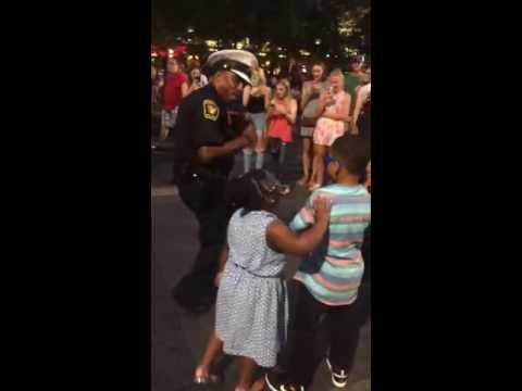 Little Boy Dance Battles with Cop