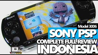 Sony PSP Model 3006 video game handheld complete review INDONESIA
