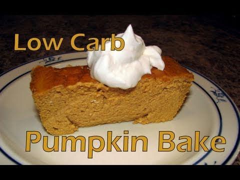 Atkins Diet Recipes:  Pumpkin Pie Bake (IF)