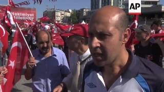 CHP supporters hold anti-coup rally in Istanbul
