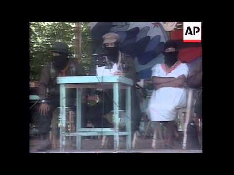 MEXICO: ZAPATISTA LEADER ENDS CONFERENCE AGAINST CAPITALISM