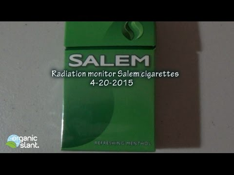 Radiation monitor Salem cigarettes 4-20-2015 | Organic Slant