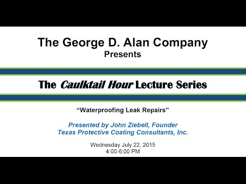 Waterproofing Leak Repairs - July 22, 2015