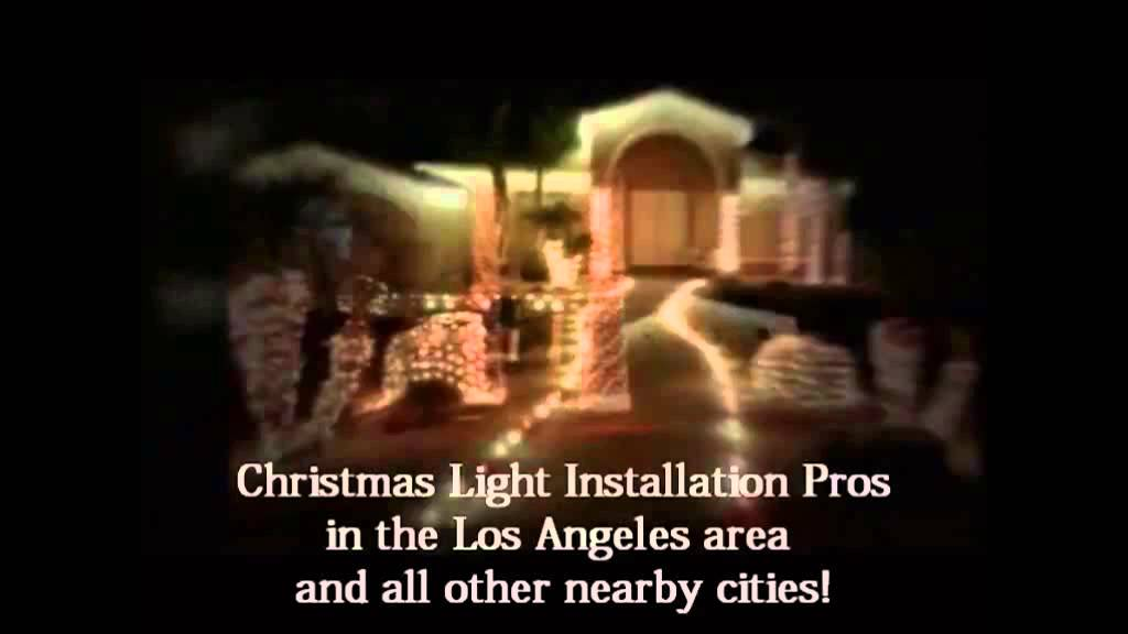 Christmas Light Installation Downey CA 310.598.7447