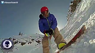 EXPLOSIVE GoPro Video of Giant Cigar UFO Above Snowboarder!