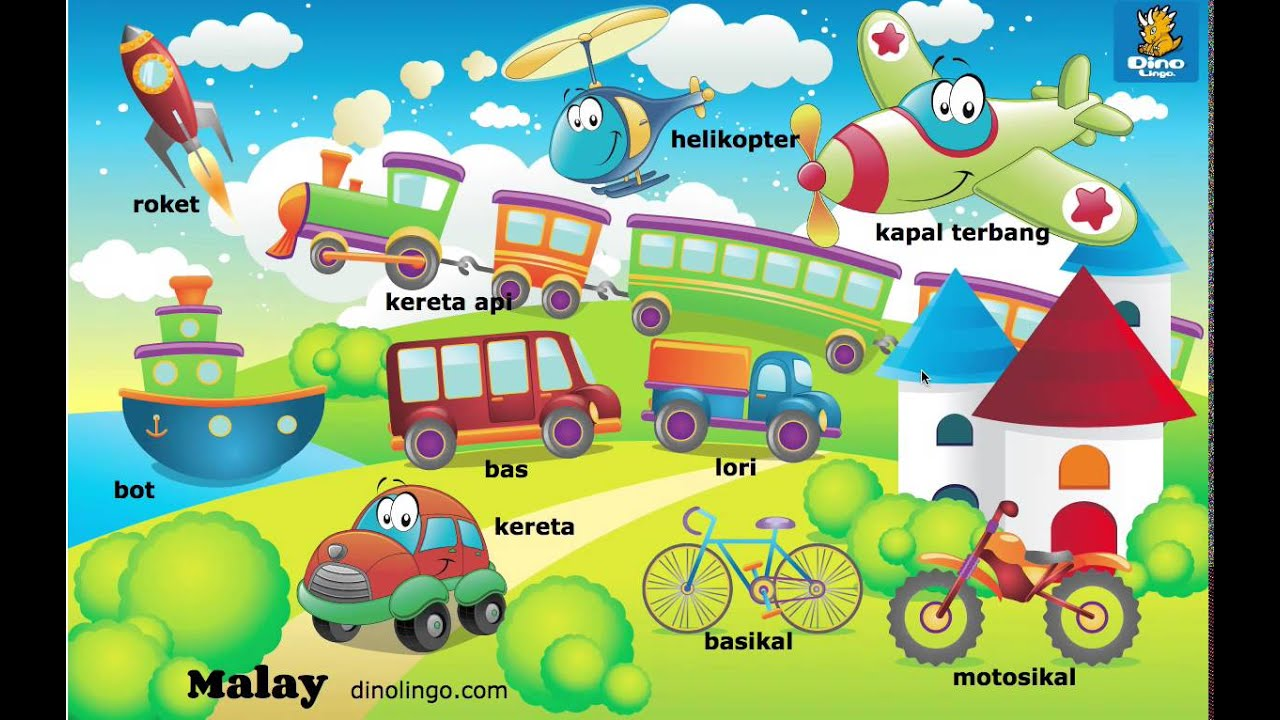 Online Malay games - Click and tell online game - Malay language learning games for kids