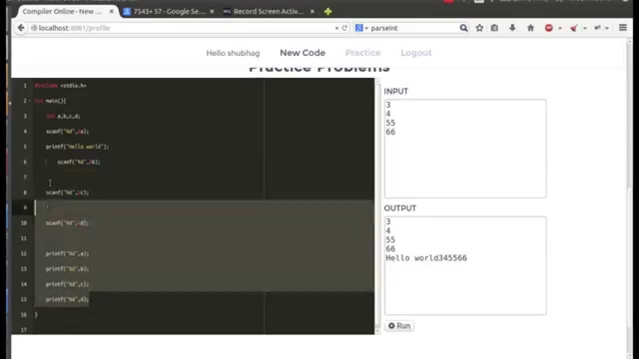Online C compiler