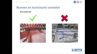 Installatie en isolatie van de ventilatiekanalen van systeem D van Lindab workshop installateurs