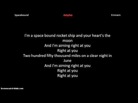 Eminem- Spacebound lyrics