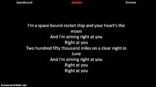 Eminem- Spacebound lyrics thumbnail