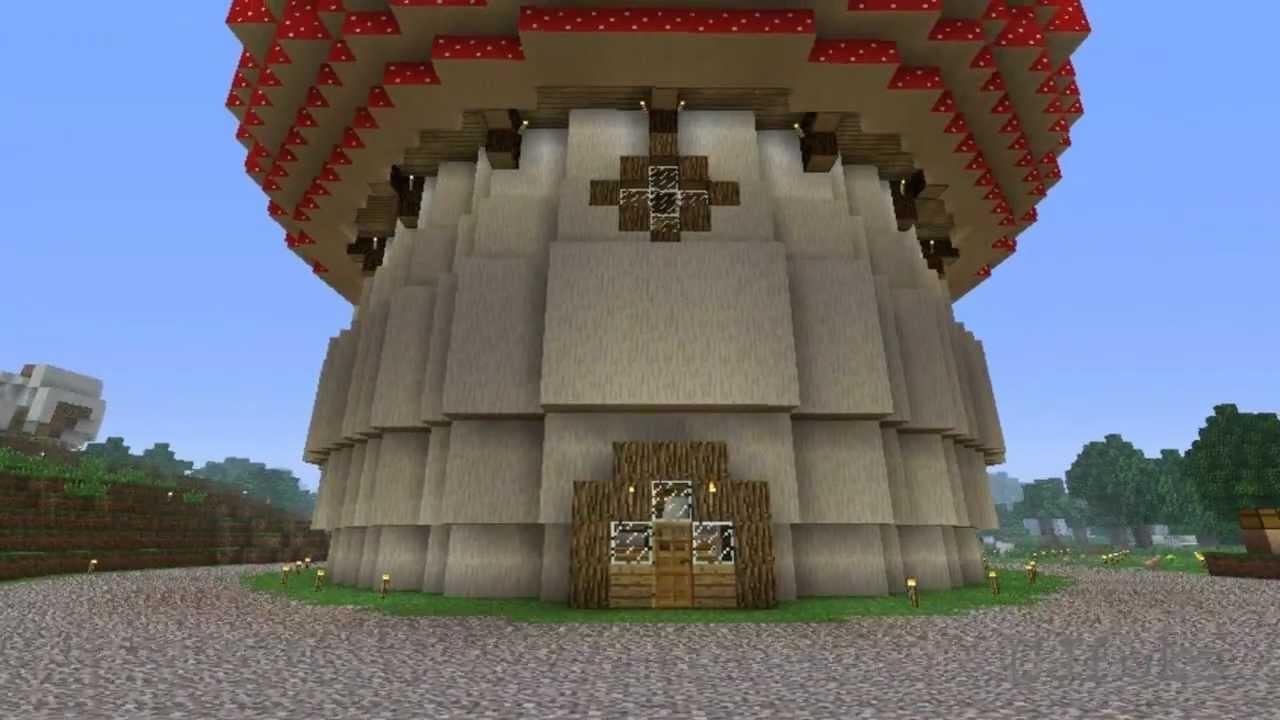 minecraft budowle - red mushroom house