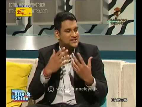 Gautam Sharma at Rise and Shine - Channel Eye Television - Sri Lanka Rupavahini Corporation