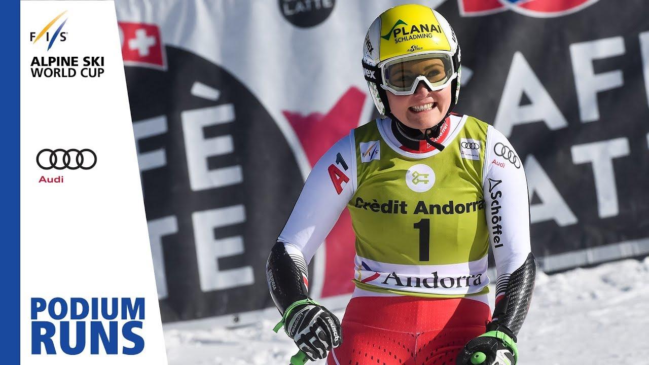 Tamara Tippler Ladies Super G Soldeu Finals 2nd Place Fis Alpine Youtube