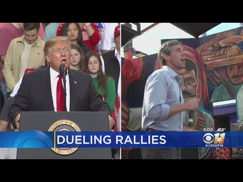 Dueling Rallies In El Paso Tonight By President Donald Trump, Beto O'Rourke
