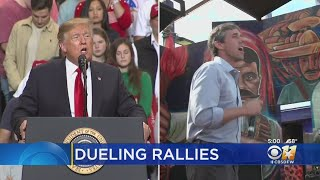 Dueling Rallies In El Paso Tonight By President Donald Trump, Beto O'Rourke The President is expected to push his border wall demands while O'Rourke, who is mulling running for president in 2020, will join a march through town to ..., From YouTubeVideos
