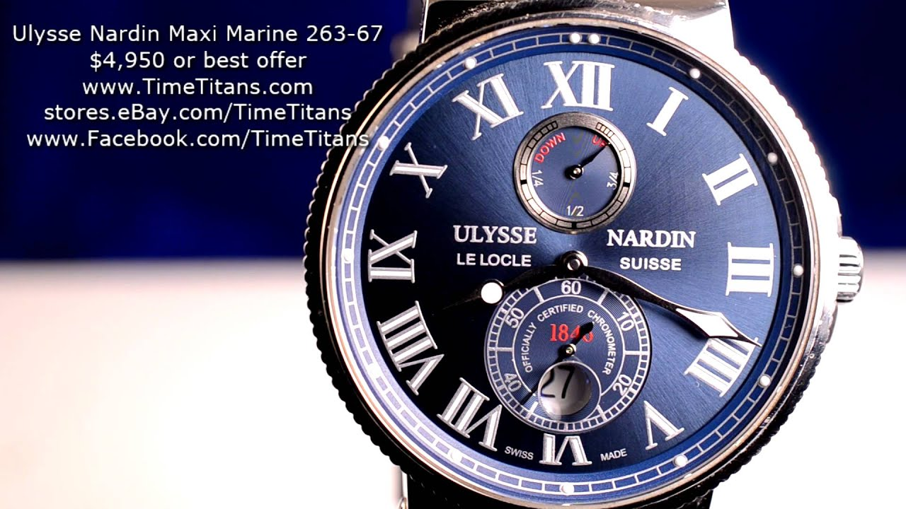 ulysse nardin 263 33 - YouTube