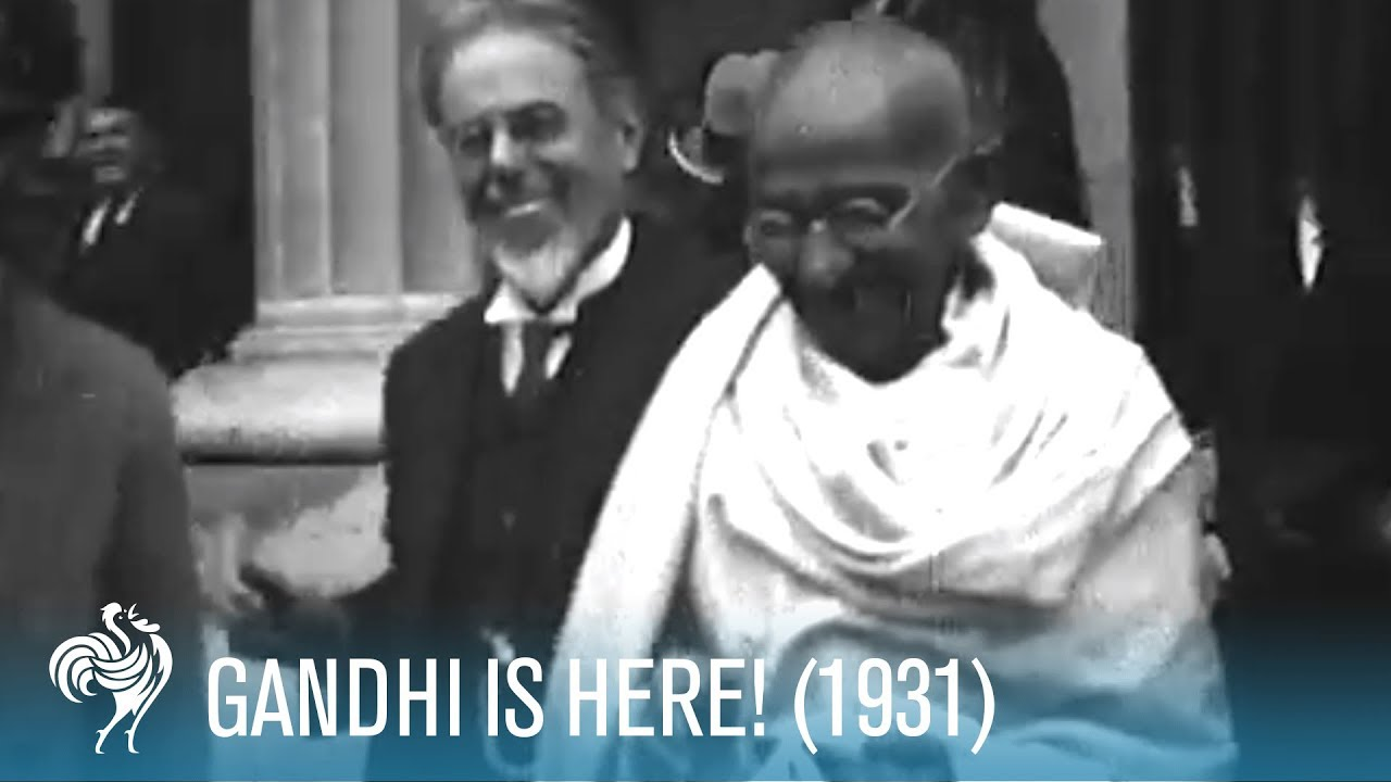 Mahatma Gandhi Arrives In The Uk 1931 British Pathé Youtube