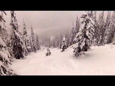powder skiing  at whitewater ski resort
