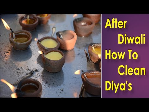 After Diwali :-Diwali Cleaning Tips for Diyas || Best way to Clean the Diyas