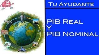 PIB Real y PIB Nominal / Tu Ayudante Economía.