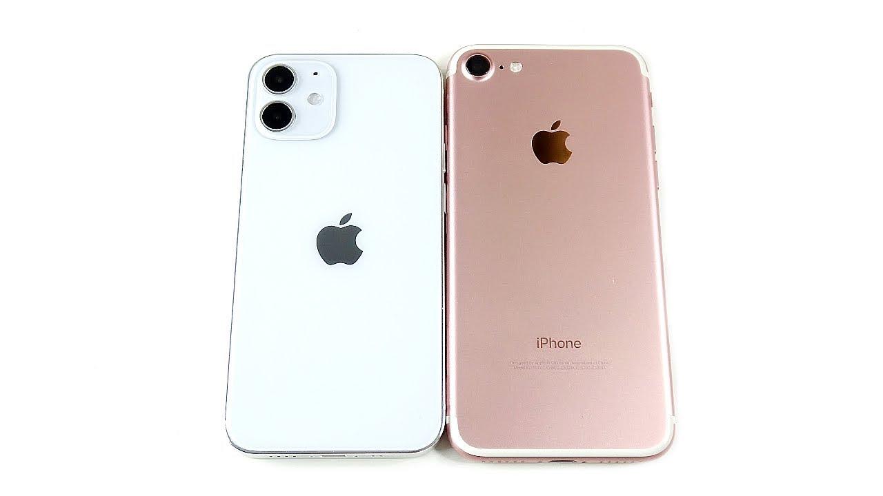 Iphone 12 Mini Size Vs Iphone 7 Youtube