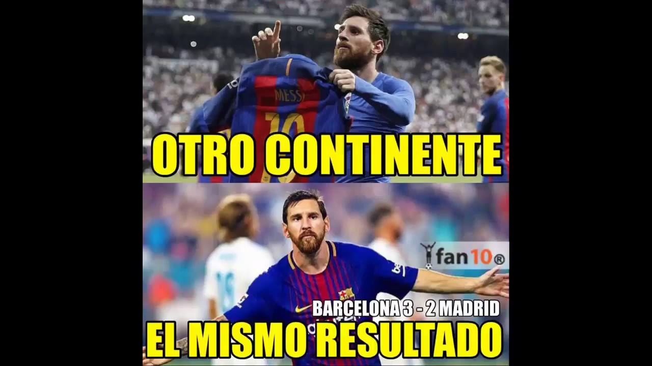 maxresdefault memes real madrid vs barcelona 2* 3 goles messi y pique superclasico