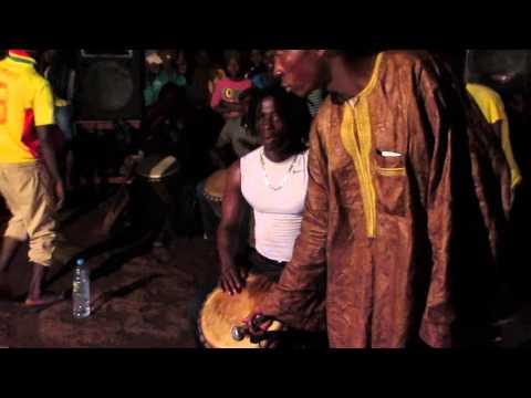 Fana Bangoura plays sabar dance in Conakry, Guinea, part1